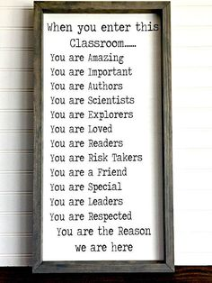 [Education]End Of Year Teacher Gifts from students middle school Classroom Signs, New Classroom, Classroom Themes, Classroom Organization, Classroom Management, Classroom Libraries, Classroom Board, Behavior Management, Kindergarten Classroom