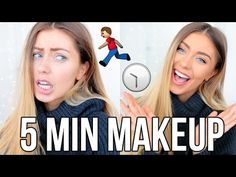 5 Minute Makeup Tutorial for Back to School / Work! - YouTube