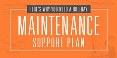 Holiday Maintenance Support Plan on Behance