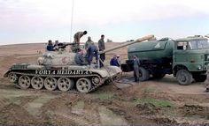 IRGC T-55 refueling from an IFA W50 tanker during the war with Iraq .