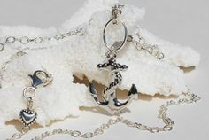 Silver Anchor Necklace Sterling Silver Nautical by ornatetreasures, $29.80
