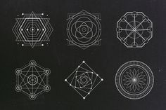 24 Sacred Geometry Vectors - Objects