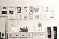 frames Picture Frame Display, Picture Frames, Gallery Walls, Home Decor Wall Art, Frames On Wall, Rooms, Spaces, Decorating, Black And White