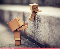 DANBO is a little cardboard box person you can create yourself. Design template and photographs of the adventures of a DANBO father and son can be found here.