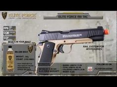 Elite Force Full Metal 1911 Tactical CO2 Airsoft Gas Blowback Pistol Umarex KWC, Airsoft Guns, Gas Airsoft Pistols, UMAREXUSA - Evike.com Airsoft Superstore