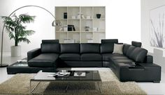 Black Leather Sofa – the best choice for charming living area