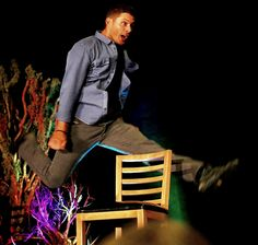 Jensen Ackles, able to leap tall chairs in a single bound