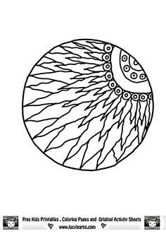 Sun Mandala Art Coloring Page 2