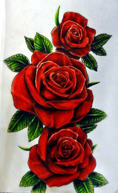 roses design to be tattooed soon