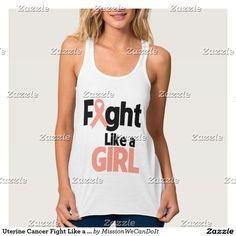 Uterine Cancer Fight Like a Girl Shirt
