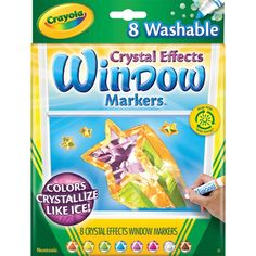 Sparkly, washable window markers? Yes, please!  Crayola Crystal Effects Window Markers
