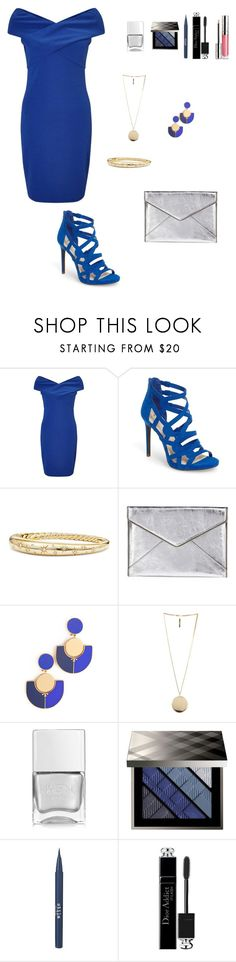 """Untitled #432"" by ladyasdis ❤ liked on Polyvore featuring Miss Selfridge, Jessica Simpson, David Yurman, Rebecca Minkoff, Tory Burch, Givenchy, Nails Inc., Burberry, Stila and Christian Dior"