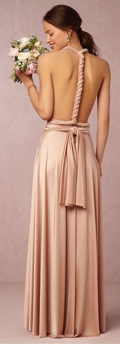 I LOVE the back of this convertible Bridesmaid Dress