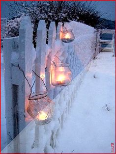 "Yule - ""Lanterns"" for the Winter Solstice. Winter Szenen, I Love Winter, Winter Magic, Winter White, Winter Season, Winter Christmas, Christmas Time, Bohemian Christmas, Christmas Garden"
