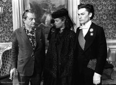 Luchino Visconti with Romy Schneider and Helmut Berger, Ludwig 1972. Repinned by www.gorara.com