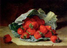 """Eloise Harriet Stannard - """"Strawberries On A Cabbage Leaf"""""""