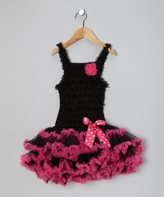 Take a look at this Black & Pink Rockette Tutu Dress - Infant & Toddler on zulily today!