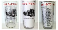 Souvenir clear glass from the 1977 Pikes Peak Hill Climb race