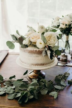 floral wedding cakes This Emotional Ontario Wedding at Home Uses Greenery Decor in the Most Epic Ways Wedding Cake Fresh Flowers, Floral Wedding Cakes, Wedding Cake Rustic, Elegant Wedding Cakes, Wedding Cake Designs, Cake With Flowers, Petite Wedding Cakes, Cake Wedding, Greenery Decor