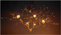 Floating Branch chandelier bodner at Bloominglites Driftwood Chandelier, Branch Chandelier, Chandeliers, Solar Lights, Fairy Lights, Chandler Lights, Trip The Light Fantastic, Star Mobile, Pretty Lights
