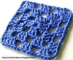 Free Crochet Videos: Classic Granny Square in One Color