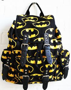 """Batman Rucksack"" by Lazy Oaf (http://www.lazyoaf.co.uk/) [No Longer Available]"