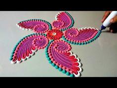 Ideas Flowers Drawing Pattern Sketch For 2019 Rangoli Colours, Colorful Rangoli Designs, Rangoli Designs Diwali, Rangoli Designs Images, Diwali Rangoli, Beautiful Rangoli Designs, Diwali Diy, Indian Rangoli, Happy Diwali