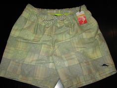 Tommy Bahama New Patch of the Day Gnome Swim Suit Trunks L 35 - 36 waist TR98004 #TommyBahama #Trunks