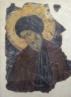 Fresco of a Saint Byzantine century CE Metropolitan Museum Fresco, Byzantine Icons, Byzantine Art, Tempera, Religious Icons, Religious Art, Medieval Paintings, Roman Sculpture, 11th Century