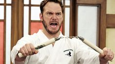 "Check out the full legal disclaimer for ""Parks and Recreation's"" Andy Dwyer-hosted kids show, ""The Johnny Karate Super Awesome Musical Explosion Show."""