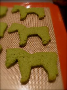 Matcha Horses Cookies