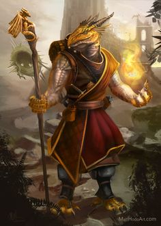 Kriv Asher Dragonborn sorcerer (Commission) by Devtexture