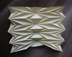Corrugation I - XXVI II MMIX | Flickr - Photo Sharing! Origami Wall Art, Origami Lamp, Origami Paper Art, 3d Paper Crafts, Paper Folding Designs, Paper Structure, Wood Carving Designs, Math Art, Origami Fashion