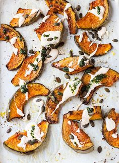 Roasted pumpkin with chilli yoghurt and coriander sauce from Ottolenghi's Plenty More #recipe #vegetarian