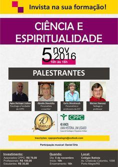 Cartaz divulgação - CPPC 40 anos (Corpo de Psicólogos e Psiquiatras Cristãos) Ciência e Espiritualidade
