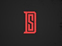 Ds Logo by Matthew Johnson Sd Logo, Typo Logo, Logo Branding, Typography, Slogan Design, Graphic Design Posters, Lettering Design, Logo Design Inspiration, Icon Design