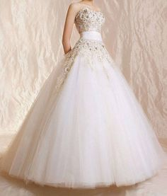 tulle strapless ball wedding dress, look over and click the picture to purchase.