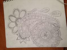 Drew this paisley tattoo design