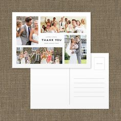 personalised wedding thank you montage postcard by paperhappy | notonthehighstreet.com