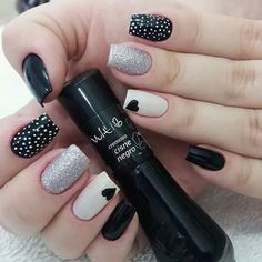 New Collections of Best Valentine's Day Nail Art Design Heart shape always plays an important role in nail art designs. When you have a nail art ideas Cute Acrylic Nails, Cute Nails, Pretty Nails, Nail Art Designs, Nails Design, Polka Dot Nails, Polka Dots, Fall Nail Art, Heart Nails