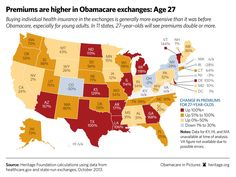 Obamacare in Pictures 2014 -- Premiums for individuals Aged 27 will see premiums double or more.