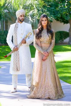 Vinny and Salima Wedding Ceremony Couple Wedding Dress, Wedding Dresses Men Indian, Wedding Suits, Wedding Attire, Desi Wedding, Wedding Groom, Wedding Wear, Wedding Ceremony, Sherwani Groom
