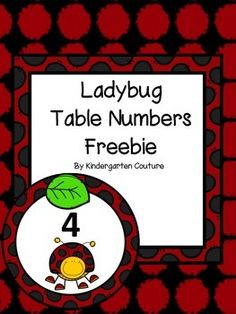 Here are some ladybug theme table numbers that you may wish to use if you have a ladybug theme classroom.  Other coordinating products:Ladybug Ten Frame MatsLadybug Word Wall Letters and 200 Fry WordsLadybug Ten  Frame Number Posters