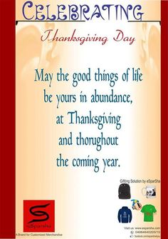 This is the online Poster design when we had celebrated THANKS GIVING DAY