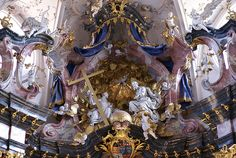 Amorbach, Abteikirche, Hochaltar (Abbey Church, high altar)