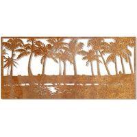 The Palm Horizon Outdoor Laser Cut Wall Art Garden Wall Designs, Brollies, Weeping Willow, Wall Sculptures, Outdoor Walls, Laser Cutting, Wall Art, Palm, Interior