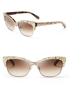 Loving these sparkly Kate Spade cat eye sunglasses