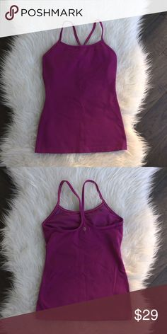 Lululemon Power Y Tank Lululemon Power Y tank, bra inserts not included, excellent condition, firm price. lululemon athletica Tops Tank Tops