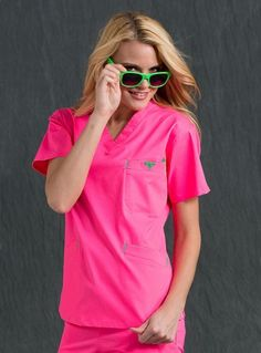 Med Couture Signature Top Neon