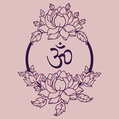 Tattoo idea - om & lotus .in red lotus: is said to represent the human heart. A red lotus tattoo can represent love, loyalty, devotion or passion.